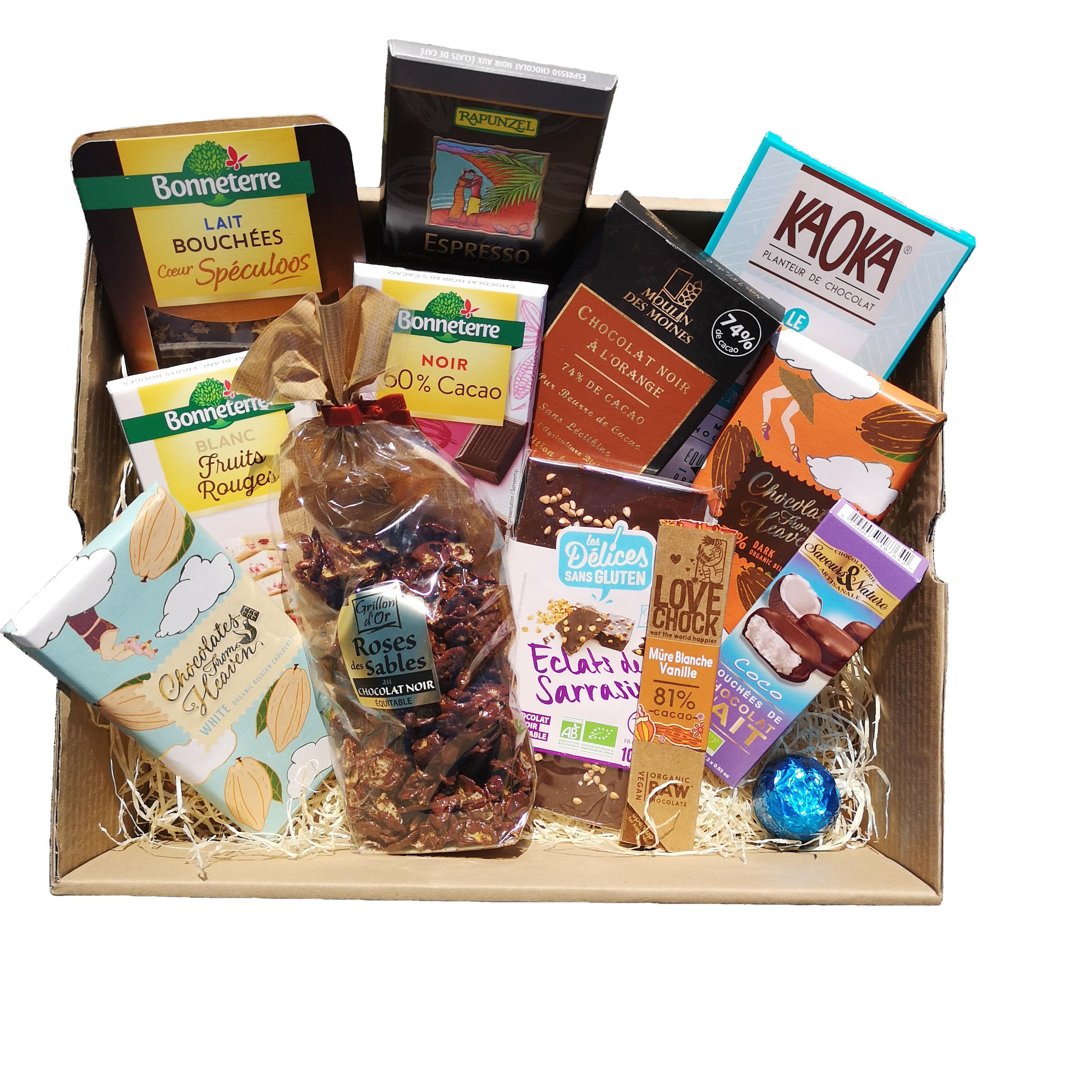 Panier garni Autour du chocolat exemple format XXL