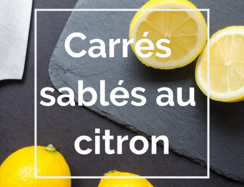 Recette : Carrés sablés au citron