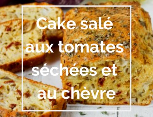 Recette : Cake salé aux tomates séchées et au chèvre