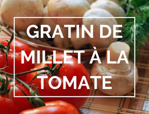 Gratin de millet à la tomate : recette